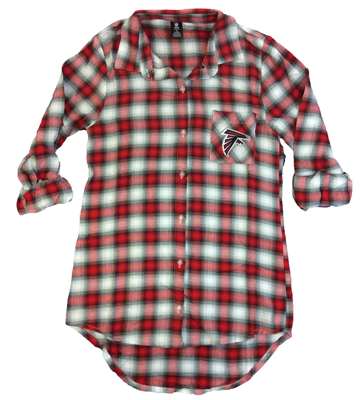 sports shoes 47b39 43099 College Concepts Atlanta Falcons Ladies Forge Flannel Nightshirt