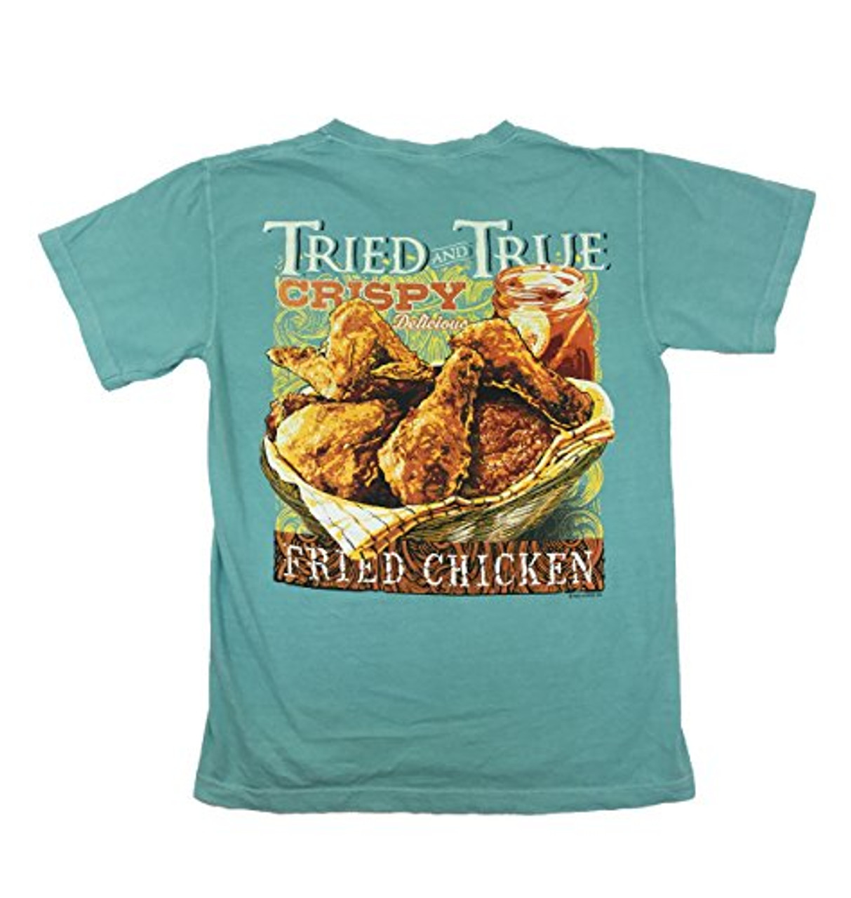 14bec929 Tried And True Comfort Colors Chalky Mint With Basket of Friend Chicken -  Trenz Shirt Company