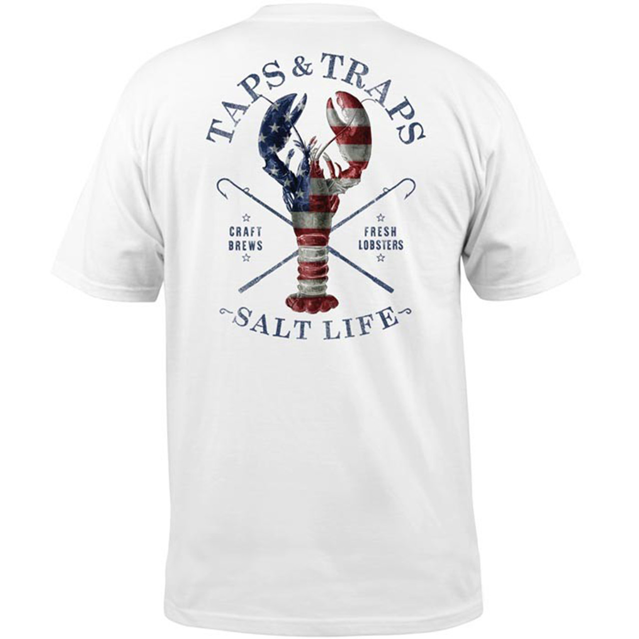 0fc9df0d Salt Life Taps and Traps Adult Short Sleeve Pocket T-shirt - Trenz Shirt  Company