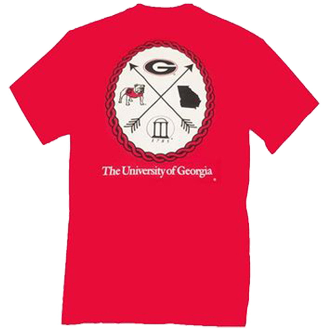 e002ad9ada6 University Of Georgia Arrow Shirt Sleeve T-shirt - Trenz Shirt Company