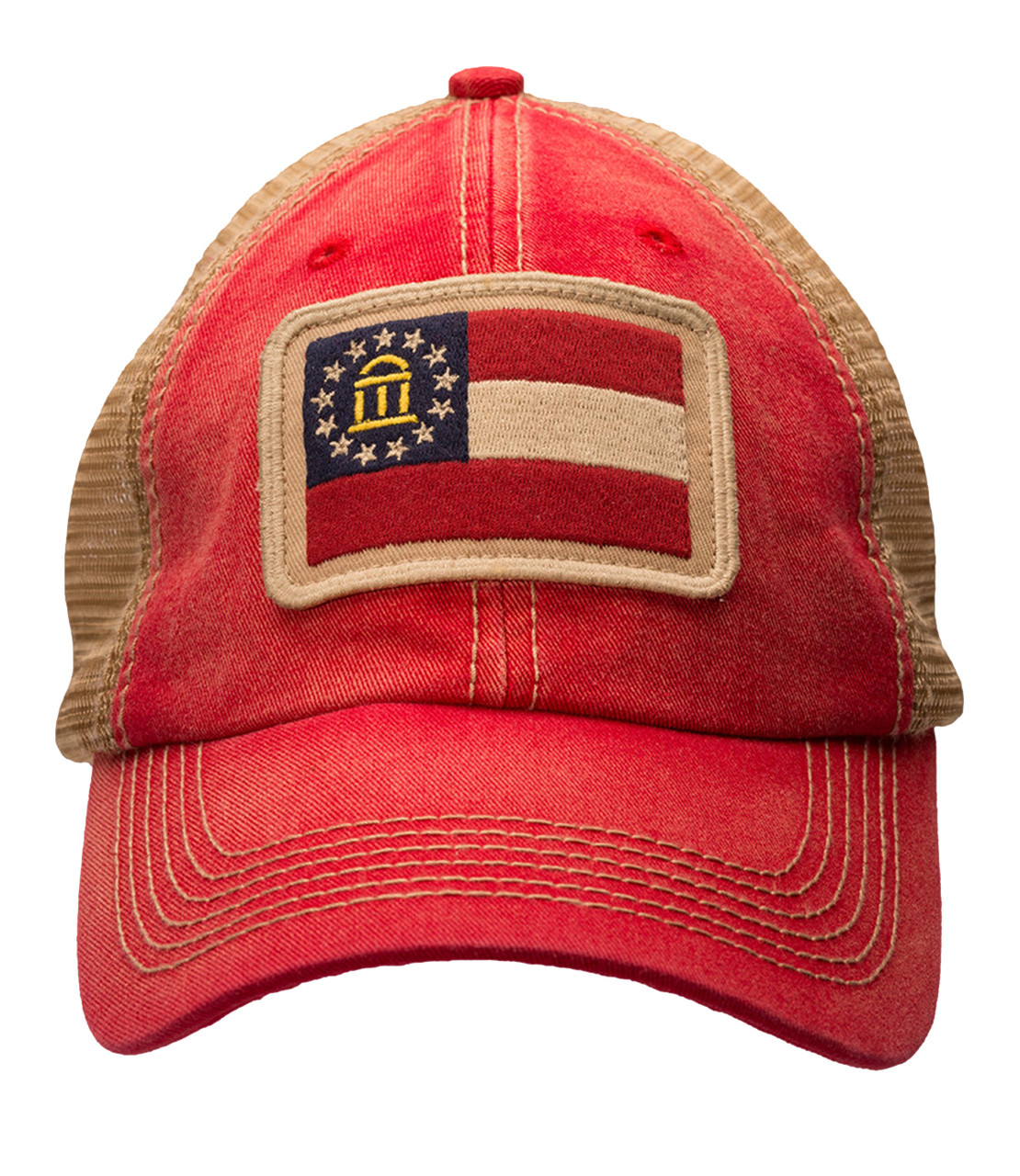 44d8a553eb055 Southern Hooker Georgia State Flag Trucker Hat - Trenz Shirt Company