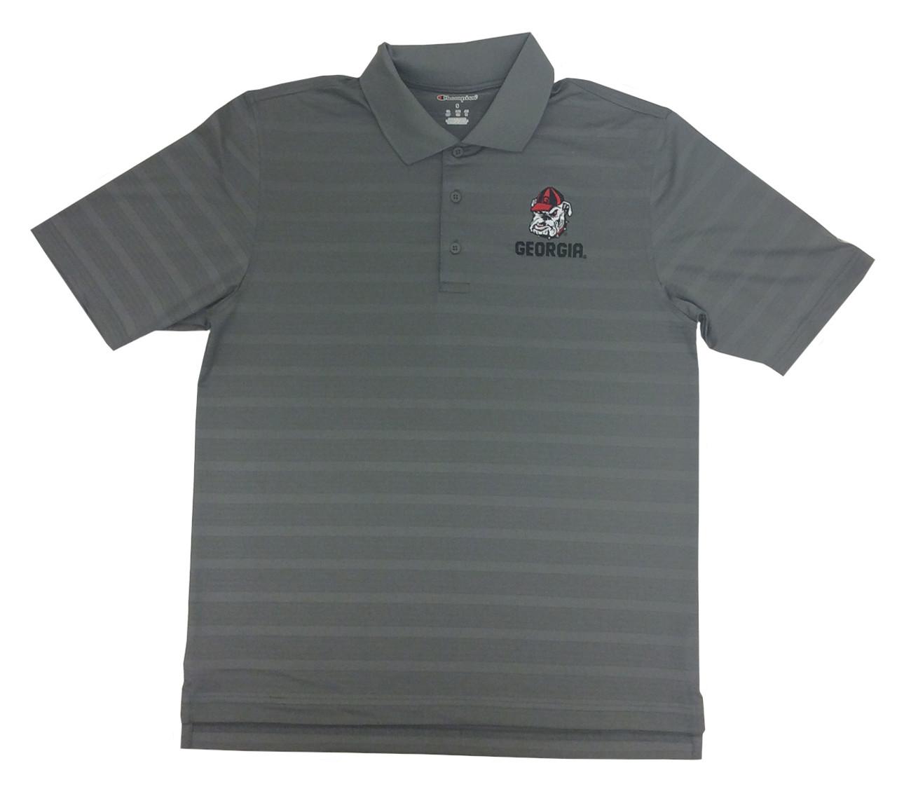 Champion Mens University Of Georgia Bulldogs Short Sleeve Polo Shirt