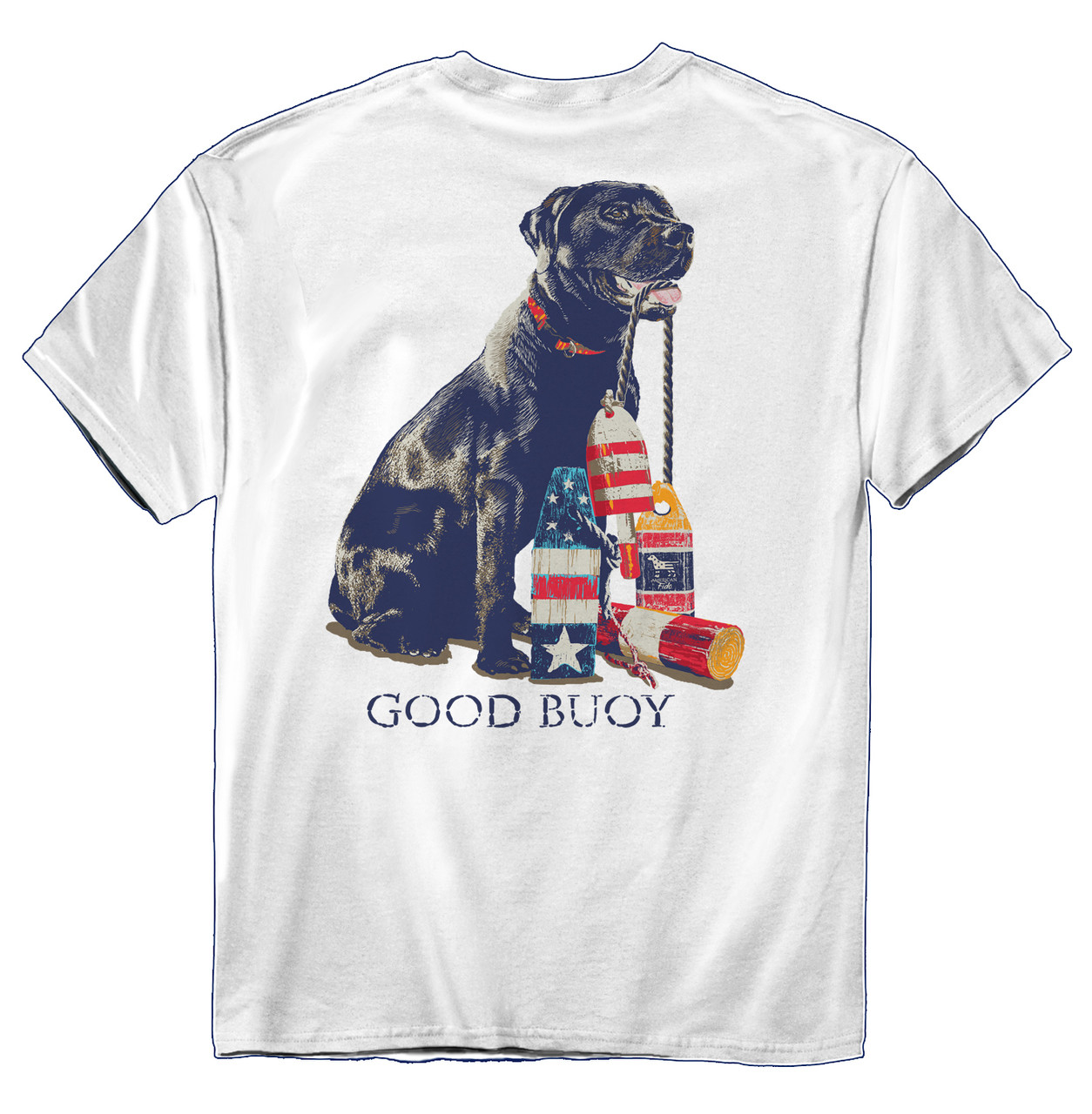 4f4daf85c American Fido Good Buoy Cute Dog Nautical T-shirt - Trenz Shirt Company