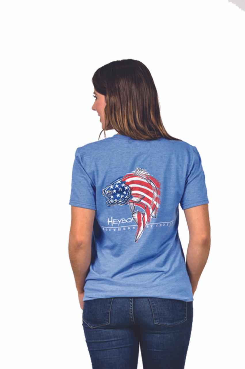8016fd53 Heybo Men's Merica Bass Short Sleeve T-shirt - Trenz Shirt Company