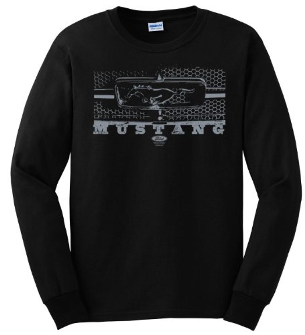 eb02658e Ford Mustang Longsleeve T-shirt Grill Design - Trenz Shirt Company
