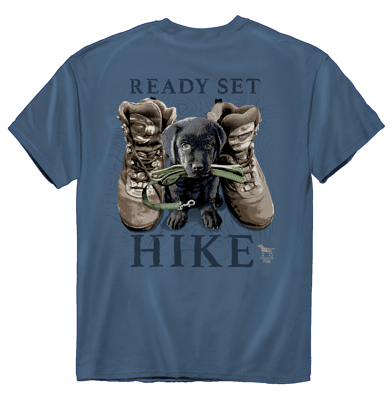 62c82b63 American Fido Ready Set Hike Adorable Puppy T-shirt - Trenz Shirt Company