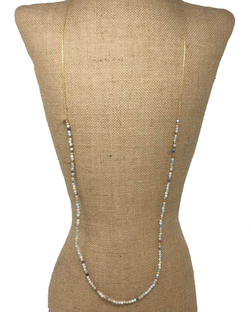 3d7de6bbf928c4 Betsy Pittard Designs Layering Dainty Necklace, Mixed Neutrals - Trenz  Shirt Company