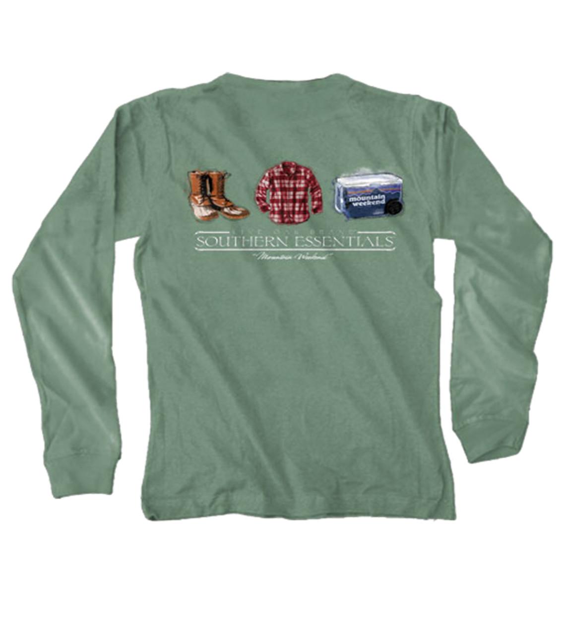 6aee46b187 Live Oak Southern Essentials Mountain Weekend Long Sleeve Tee