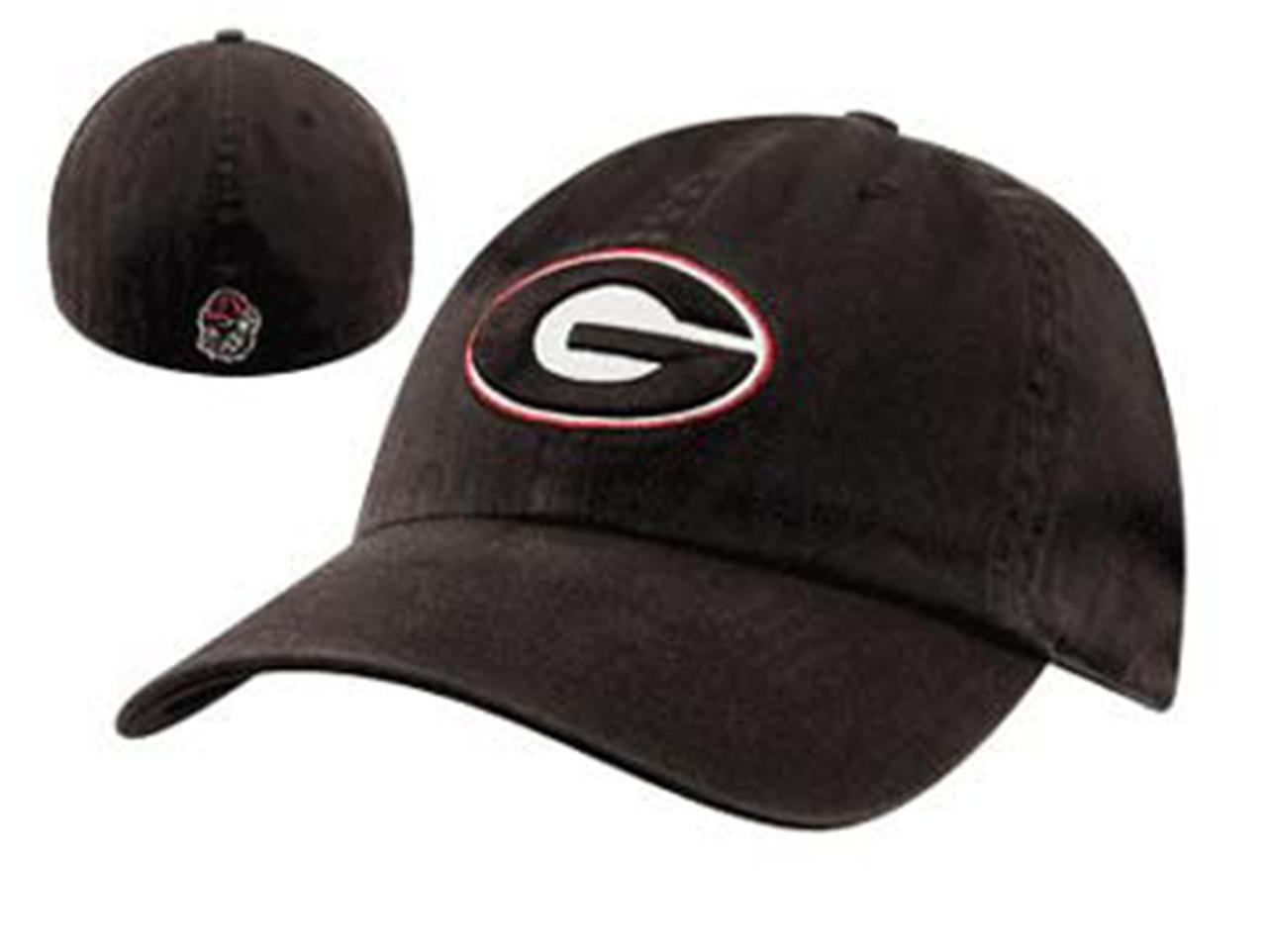 a6425b2b975 Georgia Bulldogs Black Franchise Fitted Hat - Trenz Shirt Company