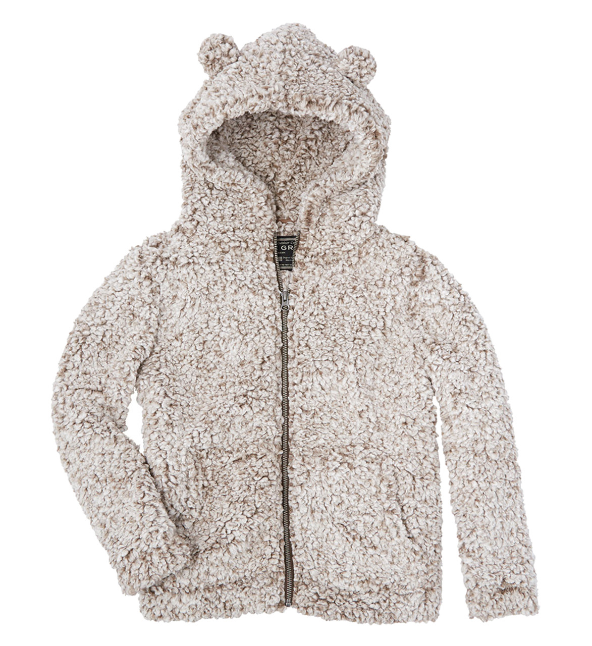 f2af80365f14 True Grit Youth Frosty Tipped Pile Teddy Bear Zip Up Hoodie - Trenz Shirt  Company