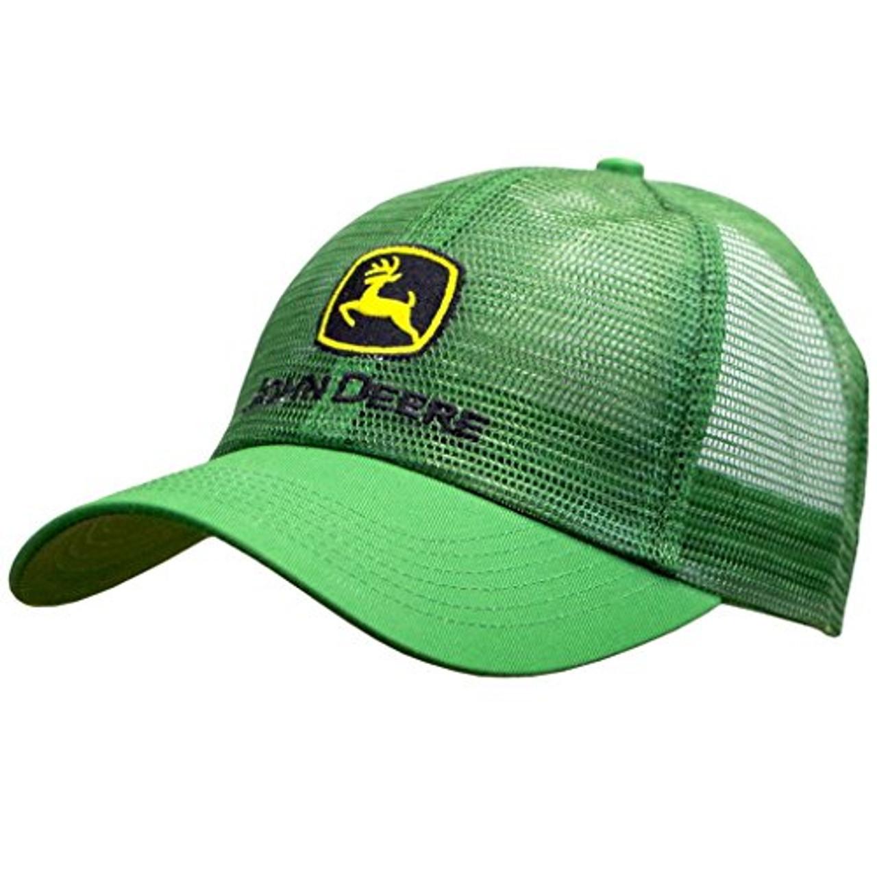 John Deere Men/'s Logo Contrast Mesh Back Core Baseball Cap Black One Size