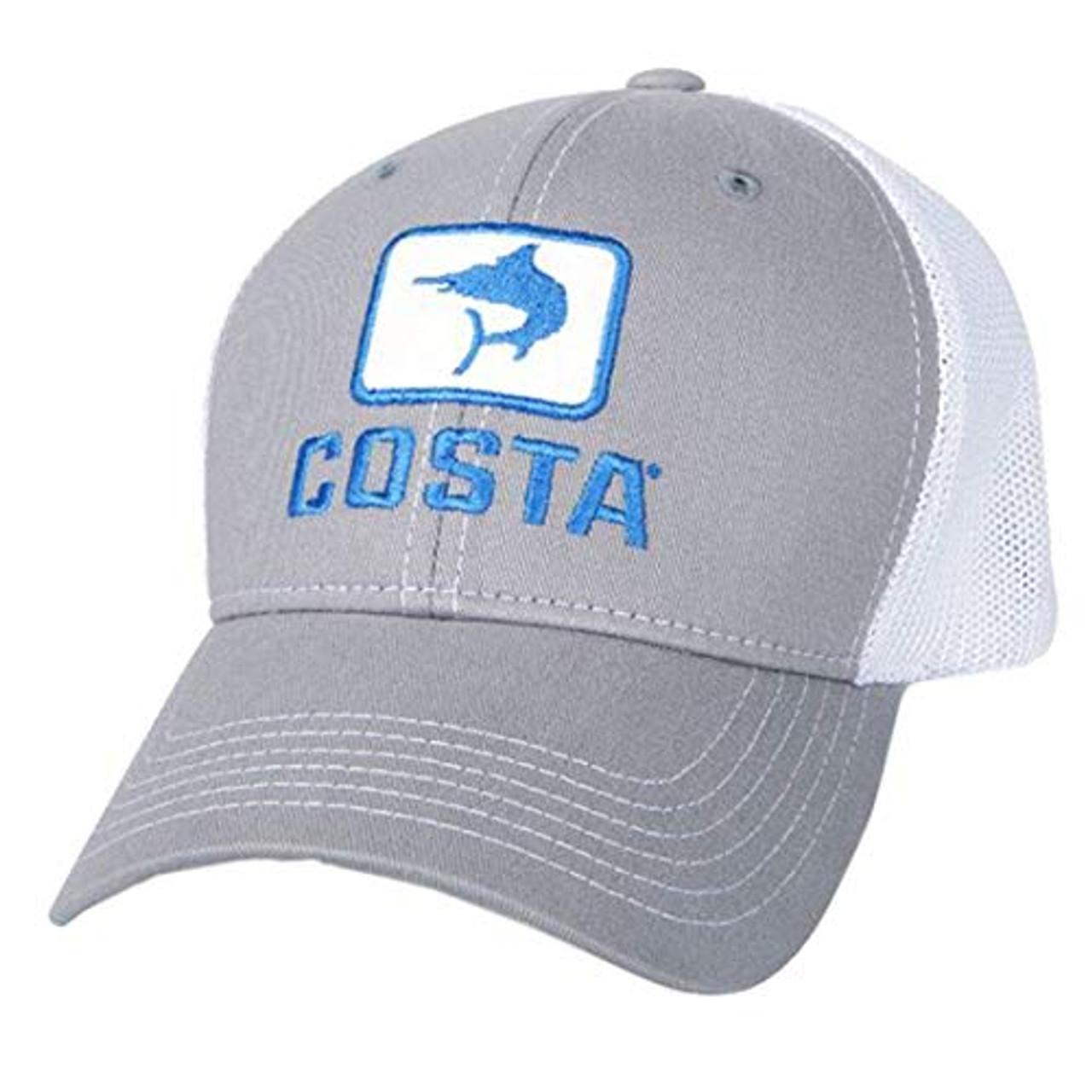 eb6d5cfa548df Costa Marlin Trucker Hat Gray White - Trenz Shirt Company