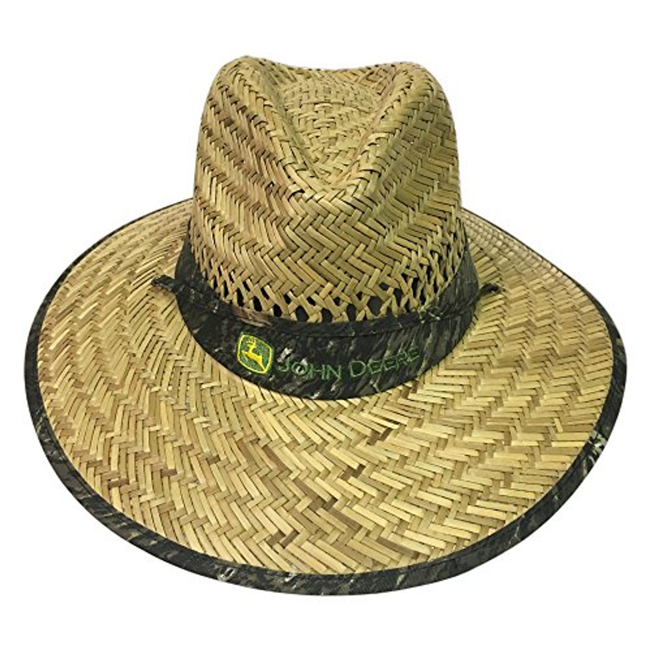 John Deere Mens Straw Hat with Camo Band - Trenz Shirt Company 48119f5773e9