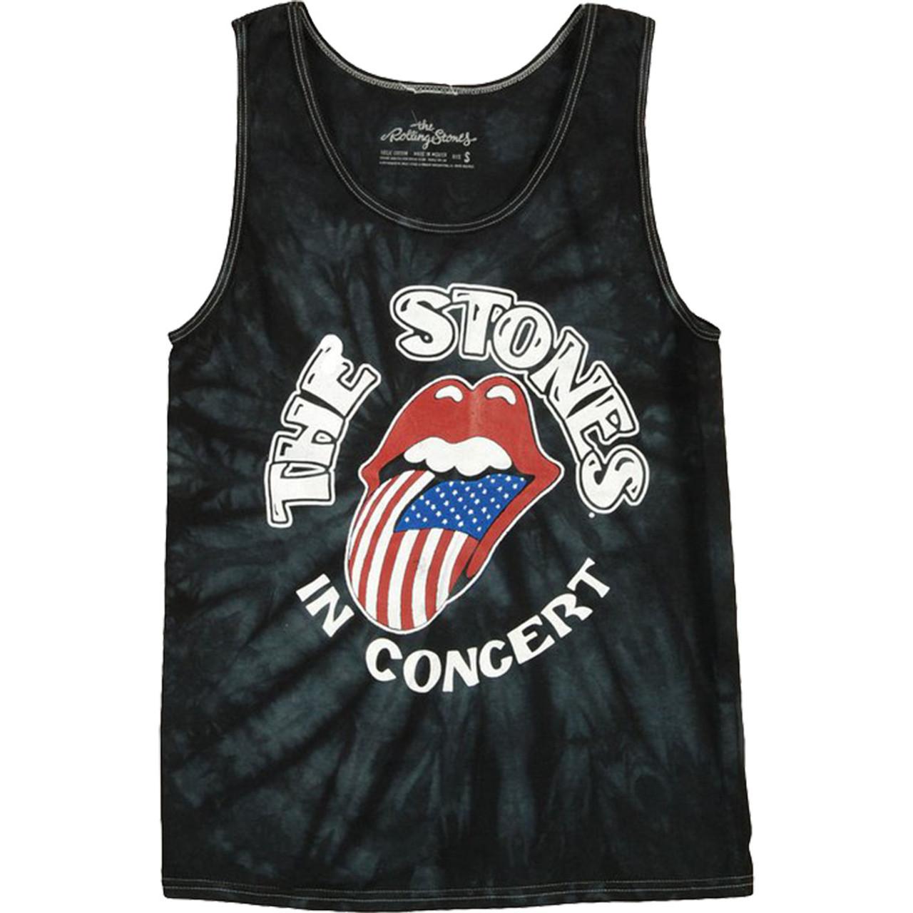 Bravado Rolling Stones The Stones In Concert Mens Tie Dye Tank Top