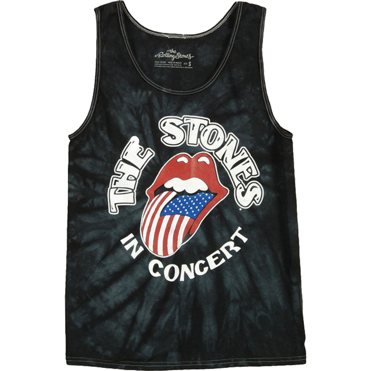 8f66008deb1e50 Bravado Rolling Stones The Stones In Concert Mens Tie Dye Tank Top - Trenz  Shirt Company