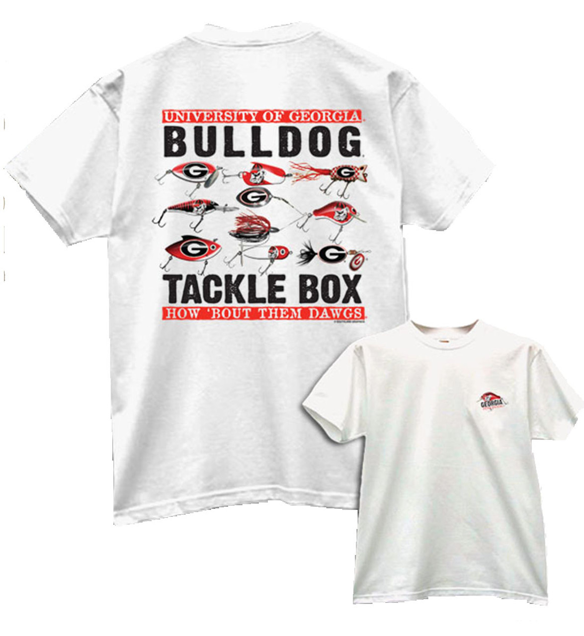 5149ab17 University Of Georgia Bulldogs Tackle Box T-shirt - Trenz Shirt Company