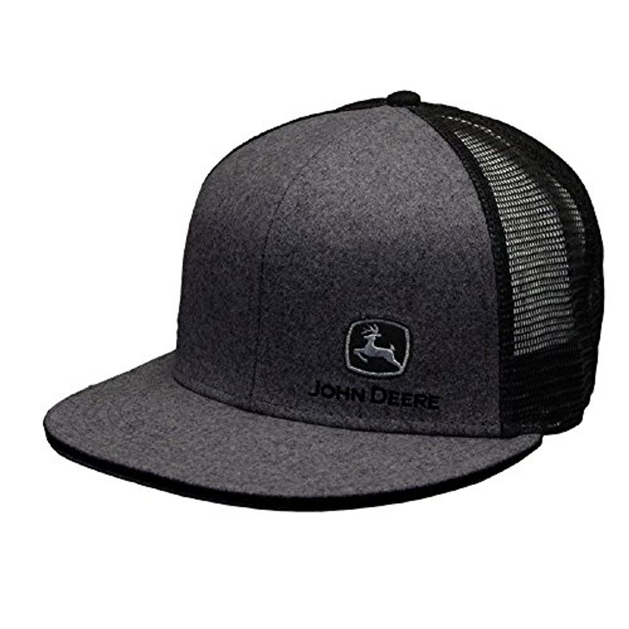 14fbeff0e9e51a John Deere TM Embroidery Adjustable Mesh Snapback Hat - Trenz Shirt Company