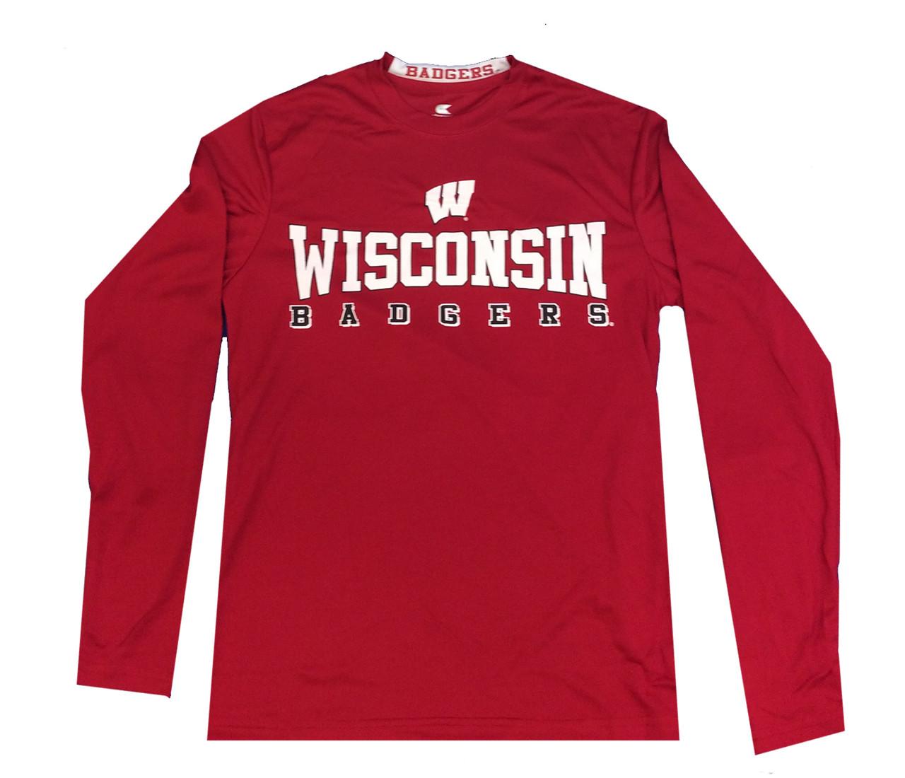 b507d593f0ae Colosseum Wisconsin Badgers Mens Streamer Long Sleeve T-shirt - Trenz Shirt  Company