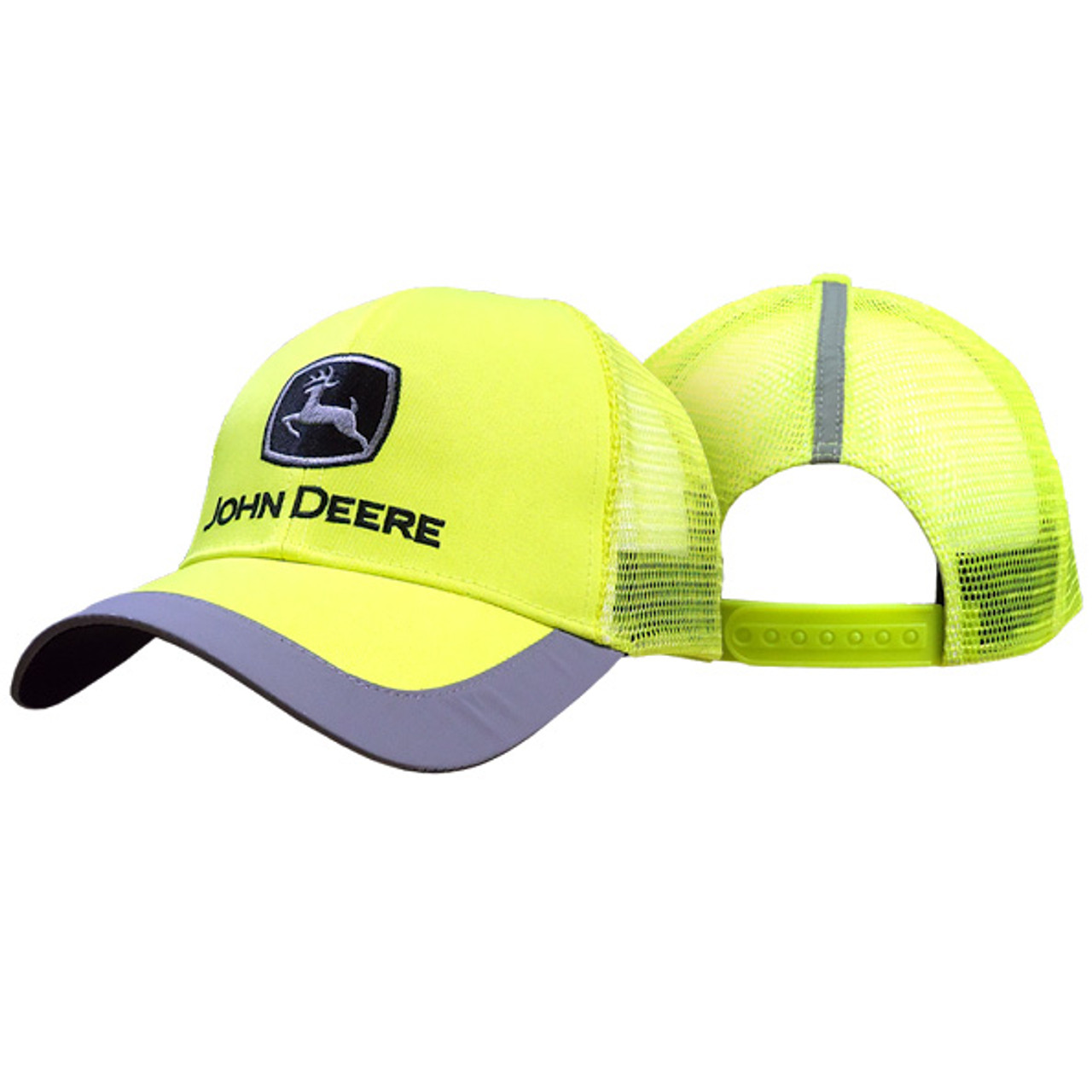 f42cfadd51ed7 John Deere Men s High Visibility Yellow Cap With Reflective Trim - Trenz  Shirt Company