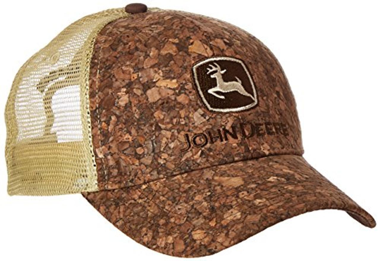 58e99ab9fea75 John Deere Hat Tree Bark TM Mesh Cap - Trenz Shirt Company