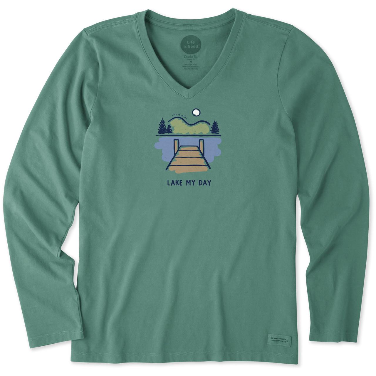 Life is Good Womens Crusher V-Neck T-Shirt