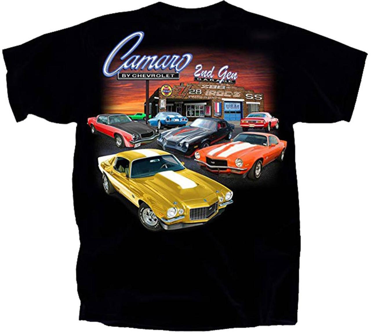 Chevy T Shirts >> Joe Blow Chevy 2nd Generation Camaro Garage Graphic T Shirt