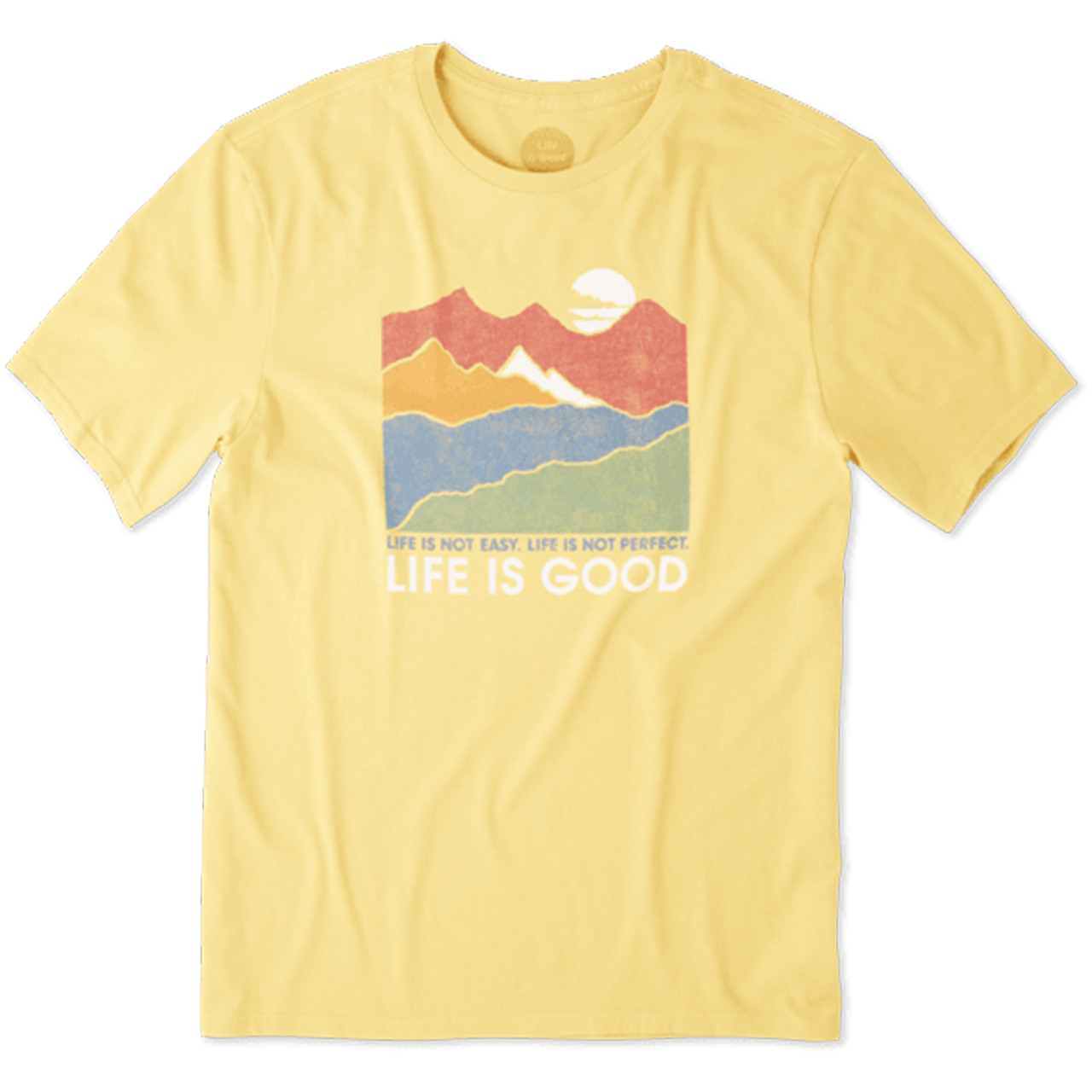 Life Is Good® Mens Life Isn't Easy Mountains Short Sleeve T-shirt