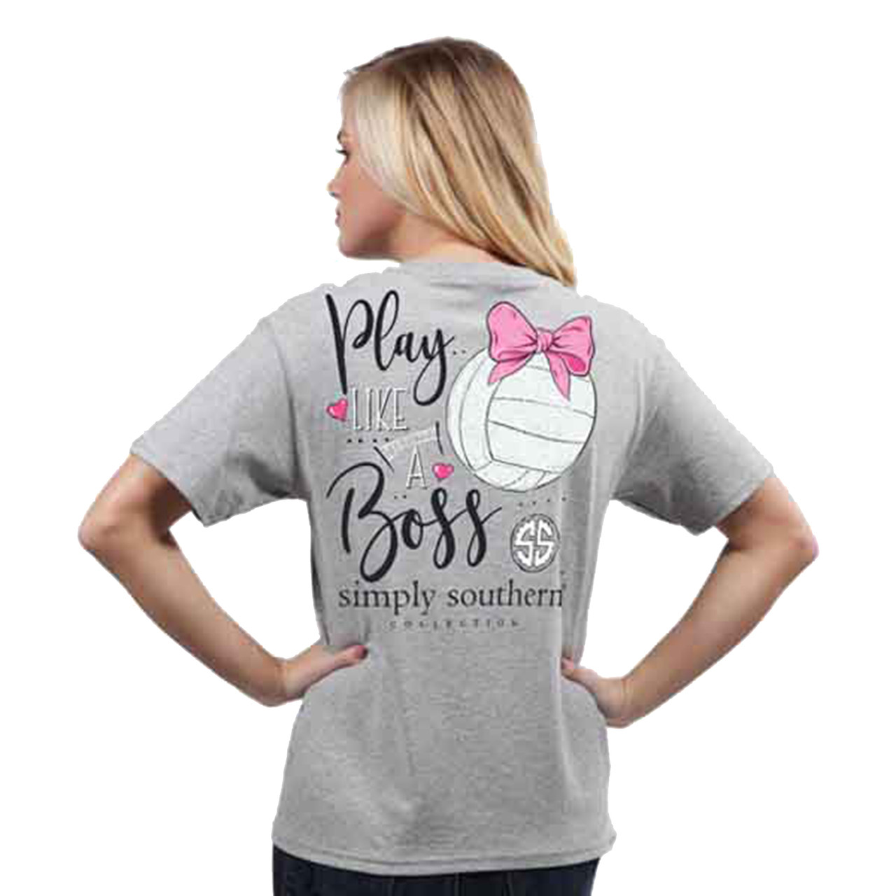 e6dd28b48a87d1 Simply Southern Youth Preppy Volleyball Like a Boss Short Sleeve - Trenz  Shirt Company