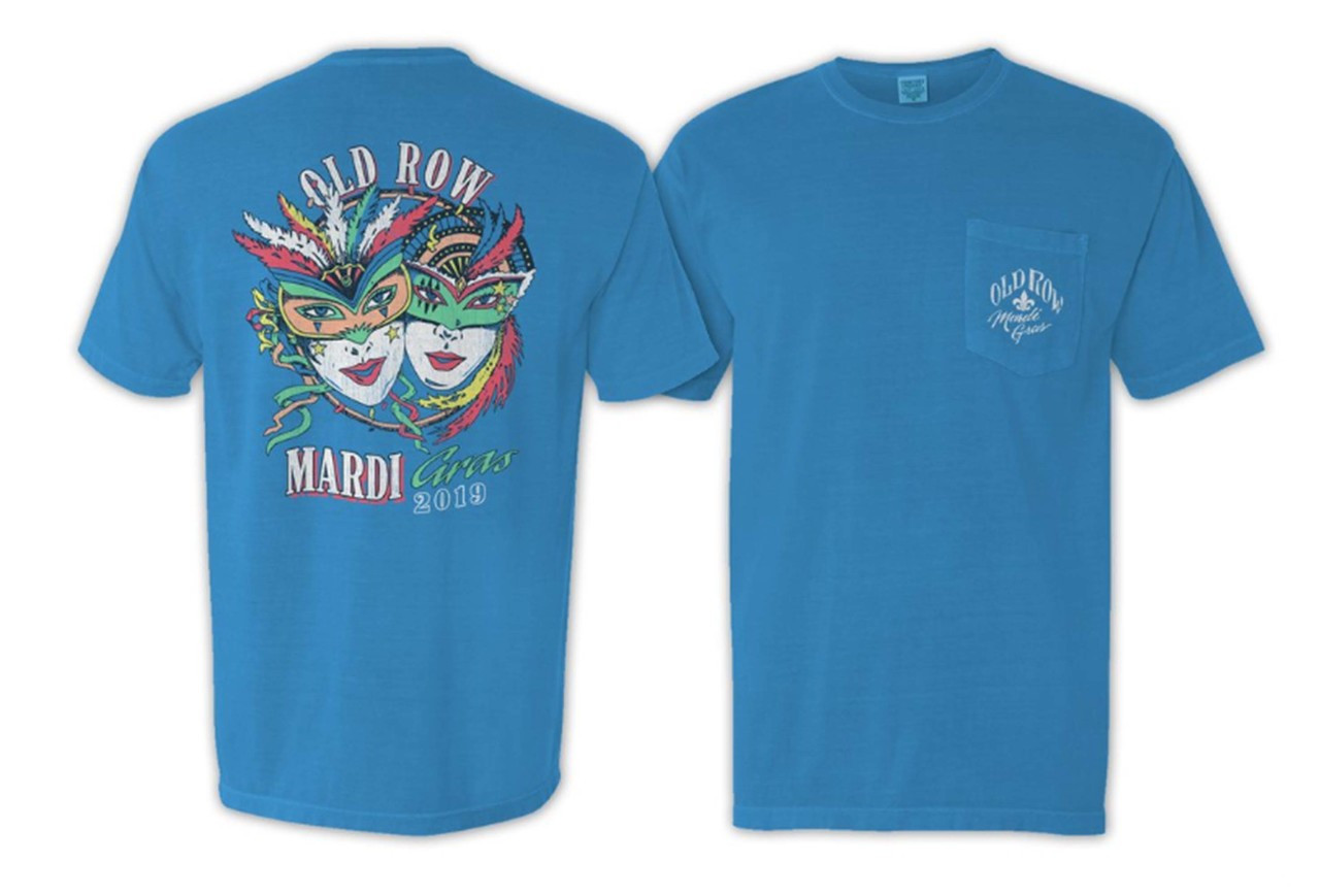 fc74b7f6 Old Row Mardi Gras Comfort Colors Pocket T-shirt - Trenz Shirt Company