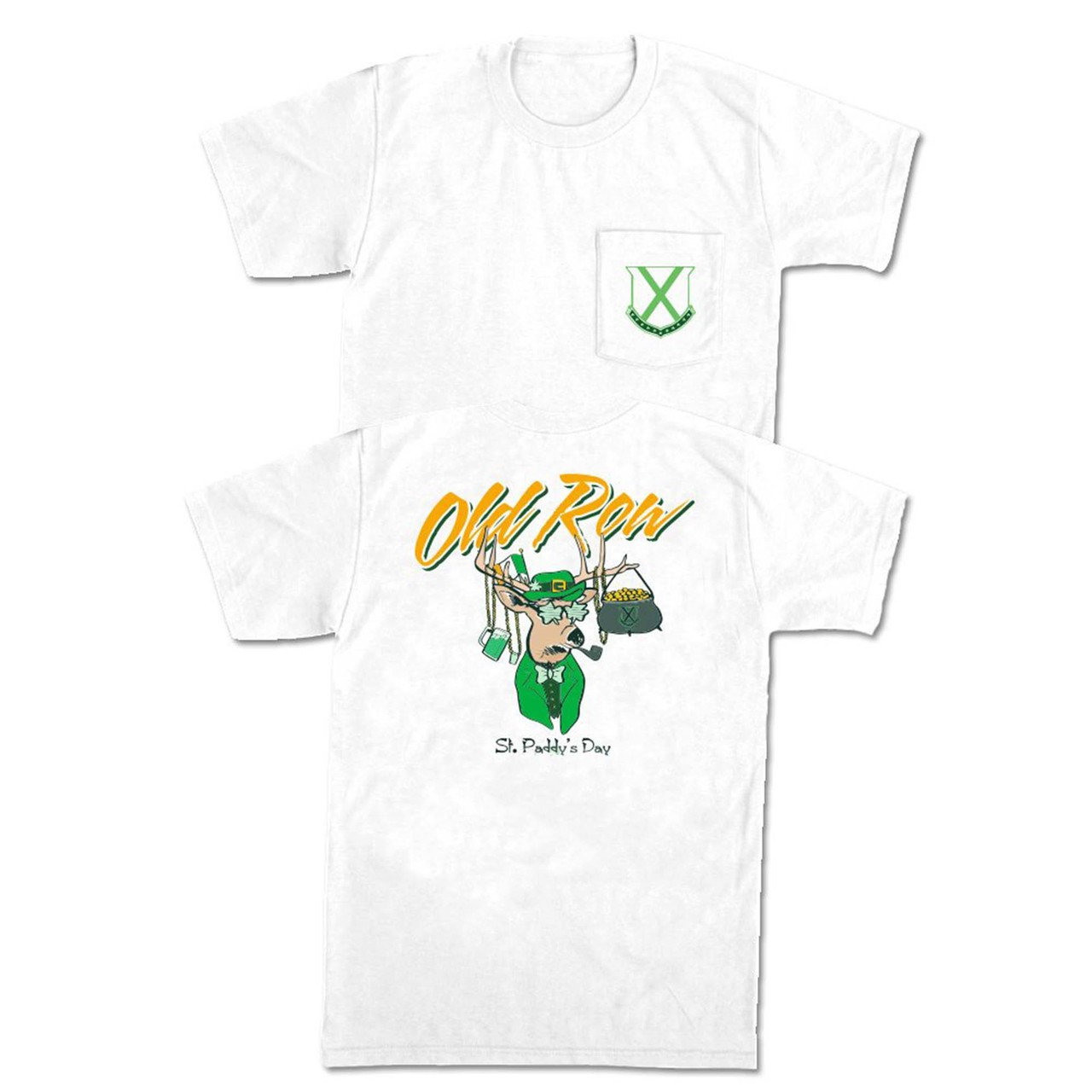 3b6d0791 Old Row St. Patty's Day Party Buck Pocket T-shirt - Trenz Shirt Company