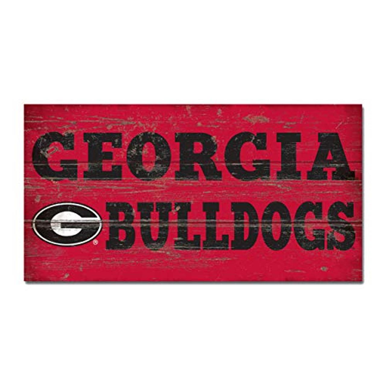 Legacy Athletics Georgia Bulldogs The Classic Wood Plank Sign 11x20
