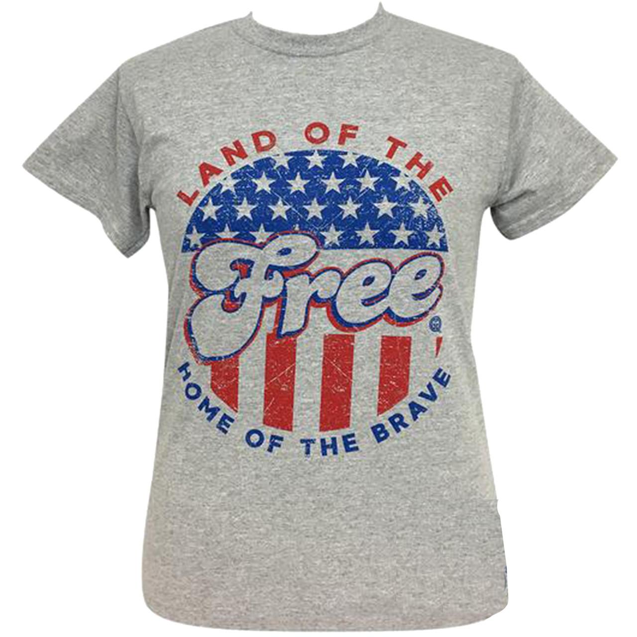 f8ddfc1c5a656 Girlie Girl Originals Land of the Free Short Sleeve T-Shirt