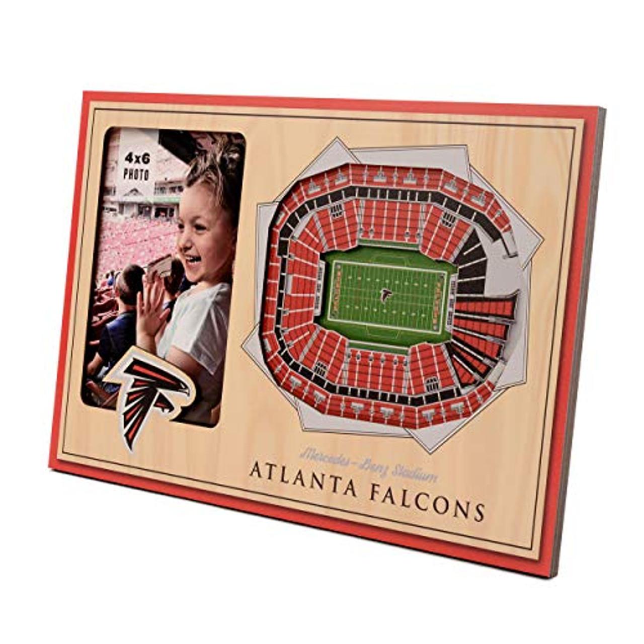 finest selection d40e4 2a56d YouTheFan NFL Atlanta Falcons 8x12 3D StadiumViews Frame