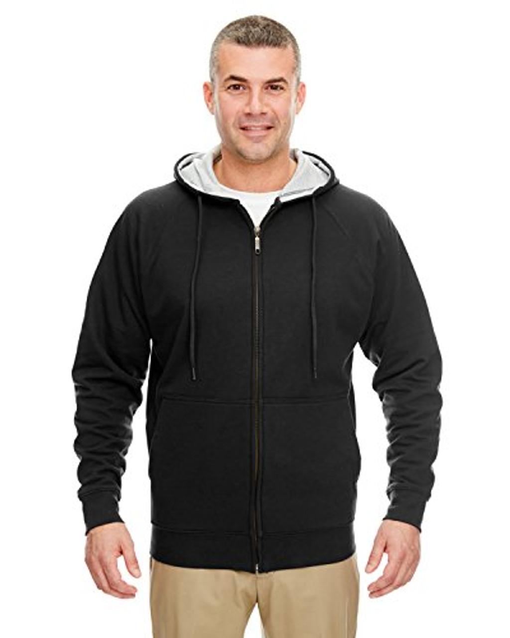 UltraClub Mens Rugged Wear Thermal-Lined Full-Zip Hoody
