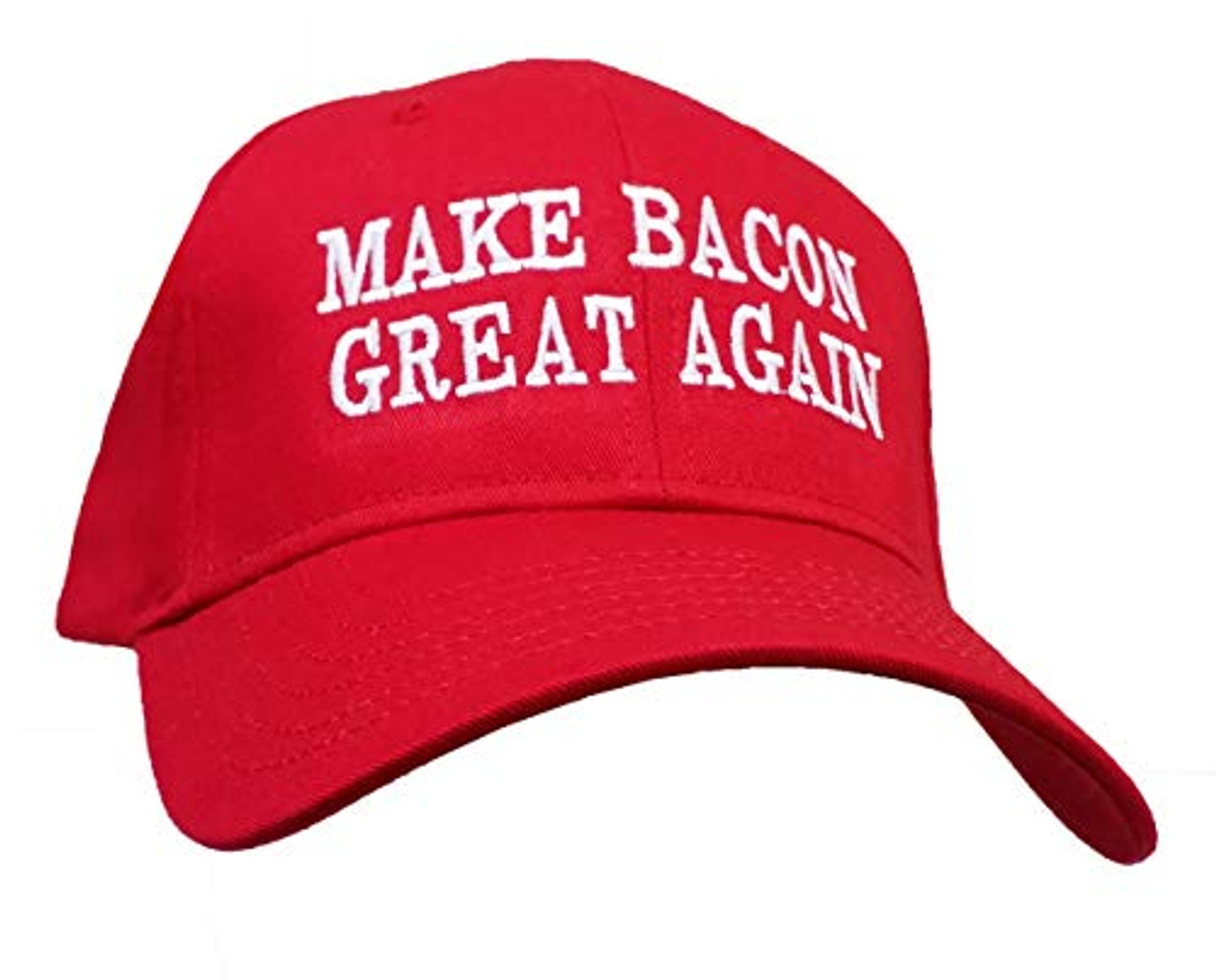 Funny Make Bacon Great Again Embroidered Otto Baseball Cap Red - Trenz  Shirt Company