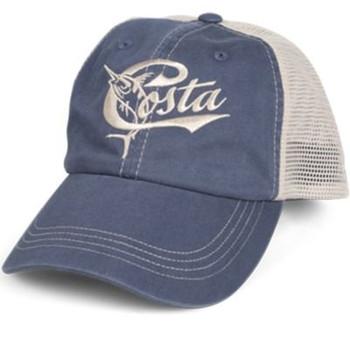 84183457d7122 Costa Del Mar Mens Ocearch Blitz Trucker Hat-Charcoal - Trenz Shirt ...