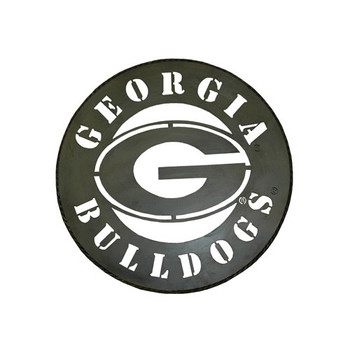 wholesale dealer f54e2 554bb Jenkins Enterprises NCAA Georgia Bulldogs Circle Metal Wall Art, 24 in  Diameter