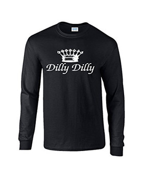 b668d496f Funny Beer Drinking Dilly Dilly Script Adult Long Sleeve T-shirt