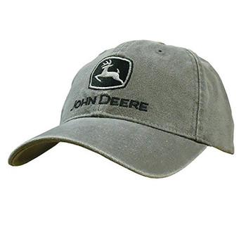 f75b25ff89d88 John Deere Trademark Yellow Logo Core Adjustable Baseball Hat ...