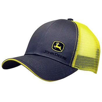 c4b054022d410 John Deere Charcoal and Yellow Side Logo Cap