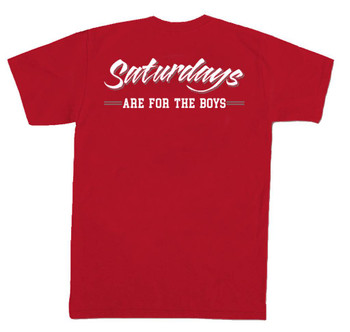 e722cb62 Old Row Saturdays Are For The Boys Short Sleeve Comfort Colors Pocket T- shirt