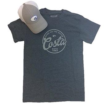 9fd0fa06 Costa Del Mar Men's Logo Hat And Freeboard T-shirt Bundle Gift Set