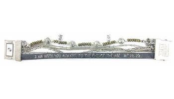 fa9681964a28b Good Works Jewelry Jana Majestic Scripture Bracelet-Matthew 28 20-Black