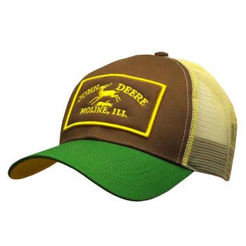 9bf0b966b1c John Deere Vintage Logo Brown Mesh Hat