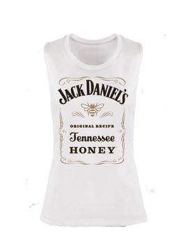 c15e18356b9a54 Jack Daniel Honey Ladies Sleeveless T-shirt