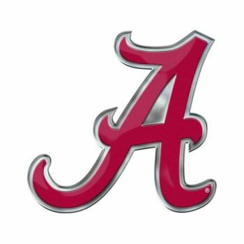 Crimson W//Script A Jay Mac Sports Alabama Car Flag