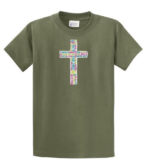 Christian Tee Shirt Inspirational Cross military