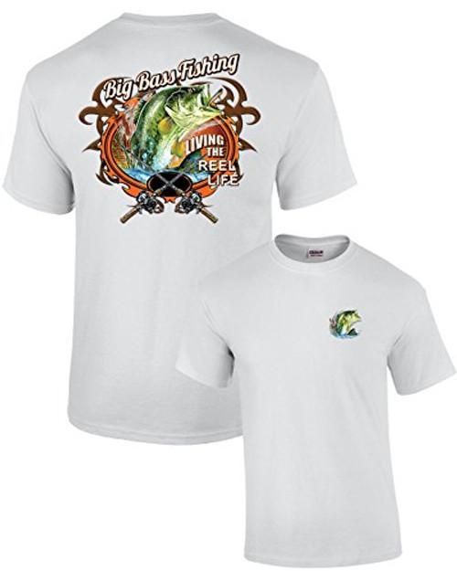 Big Bass Fishing T-shirt Fisherman Outdoors Fish Boating Sporting Sport