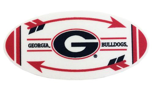 "Brass Reminders, University of Georgia 6"" x 4"" Arrow Oval with G Ribbon Premium Decal"