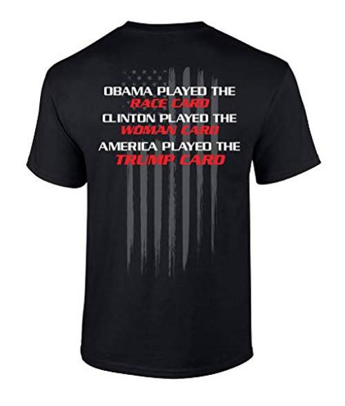 Funny Political Trump Card Graphic Tee Shirt Black